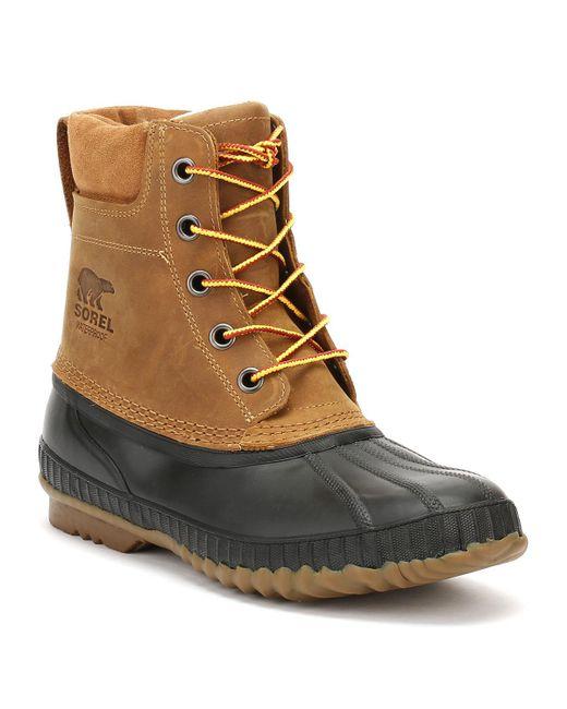 Sorel - Mens Chipmunk Brown / Black Cheyanne Ii Boots for Men - Lyst