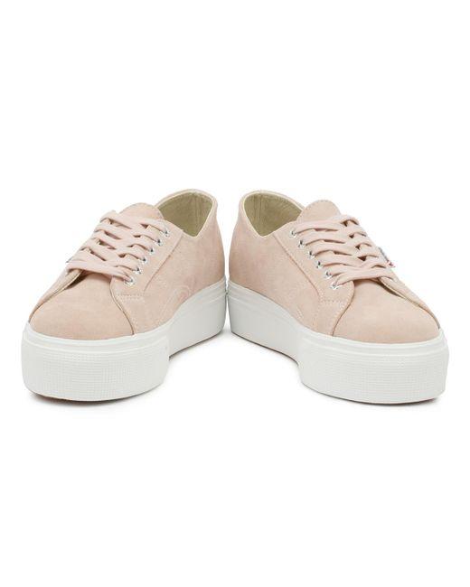 b6d4b6f4079 ... Superga - Womens Pink Skin 2790 Suew Trainers - Lyst ...