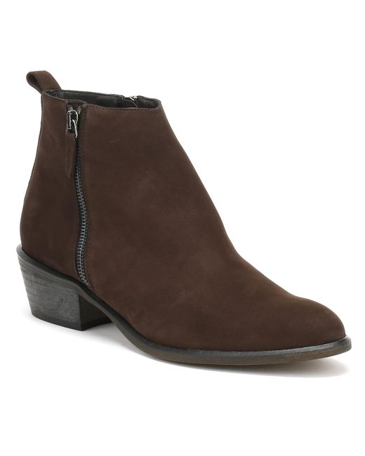 Cara | Womens Chocolate Dark Brown Nubuck Fern Ankle Boots | Lyst