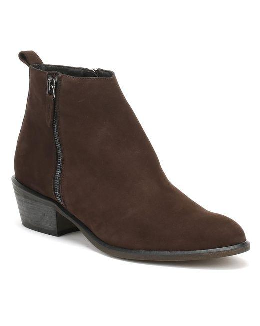 Cara - Womens Chocolate Dark Brown Nubuck Fern Ankle Boots - Lyst