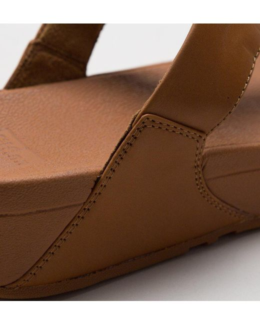 30ec60a5ed42 ... Fitflop - Brown Lulu Leather Sandals - Lyst ...