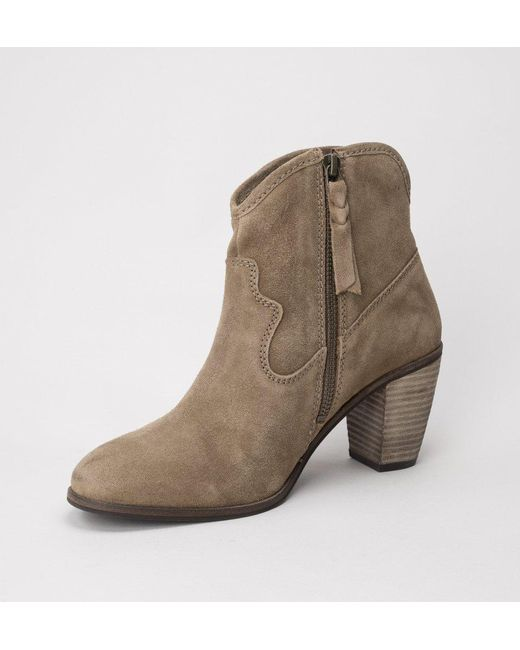 more photos 5d965 b1c71 New Womens Superdry Tan Alice Western Suede Boots Ankle Zip ...