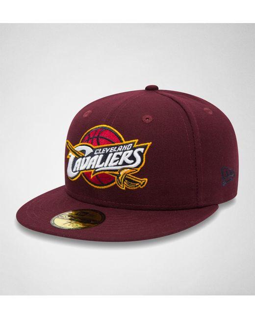 KTZ - Red New Era Nba Team Classic Cleveland Cav Hats for Men - Lyst