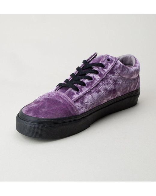 bfda75503c067d Vans Women s Velvet Old Skool Sneakers in Purple - Save 66% - Lyst