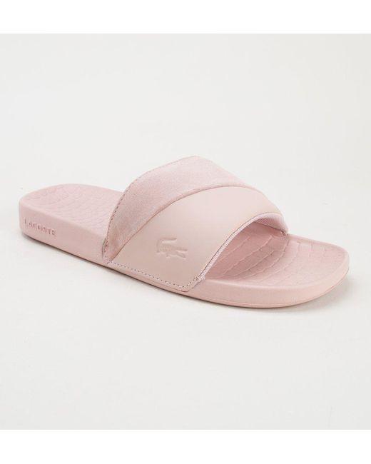 49c43e5d532d6 Lacoste - Pink Fraisier 118 4 U Ca Pnk-pnk Flip Flops - Lyst ...