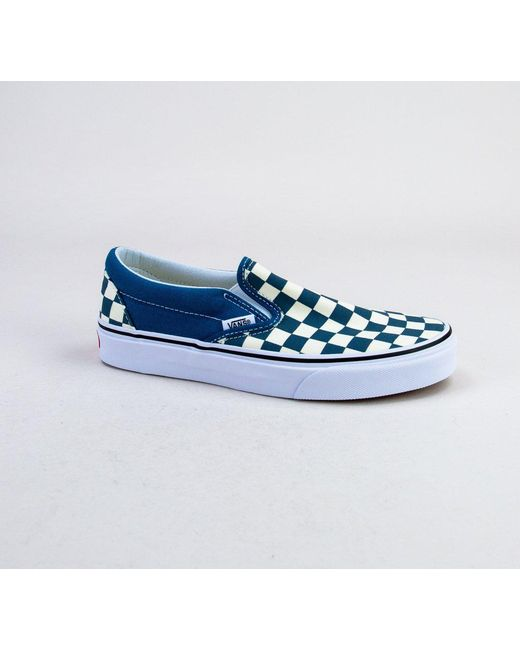192dd72c6ee9 Vans - Blue Classic Slip-on (checkerboard) Corsair-true White Trainers ...