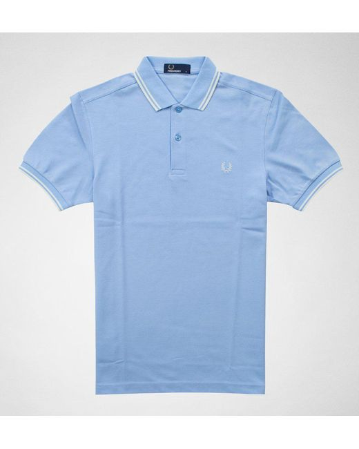 Fred Perry - Blue Fred Perry Twin Tipped Fred Perry Shirt Shirts & Polos for Men - Lyst