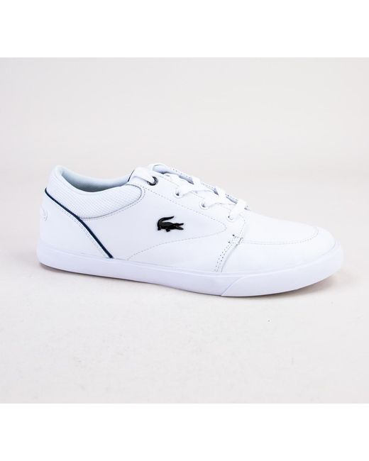 2eaecebedab21c Lacoste - White Bayliss 318 2 Cam Wht-nvy Trainers for Men - Lyst ...