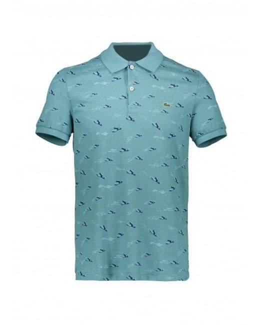 f3bfb5d30e Lacoste - Blue Airplane Print Polo for Men - Lyst ...