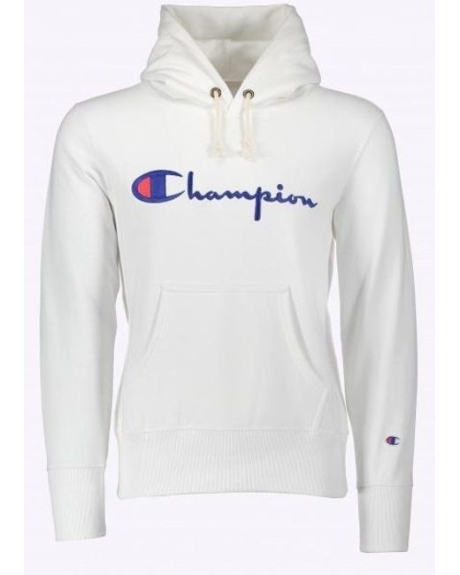Champion | White Hooded Sweatshirt for Men | Lyst