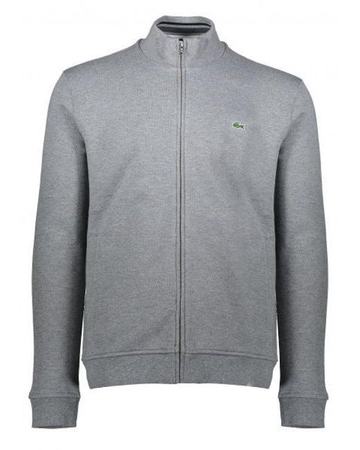 Lacoste | Gray Zip Stand Up Collar Jacket for Men | Lyst