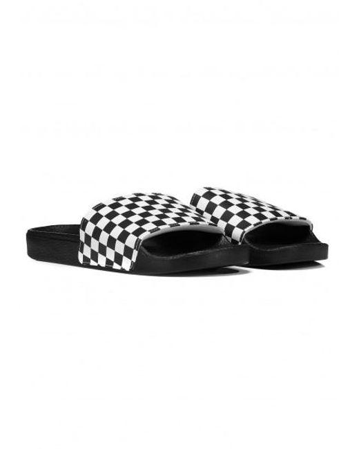 ... Vans - Black Slide On (checkerboard) Checkerboard White Flip Flops for  Men - Lyst ... 625c95fcc