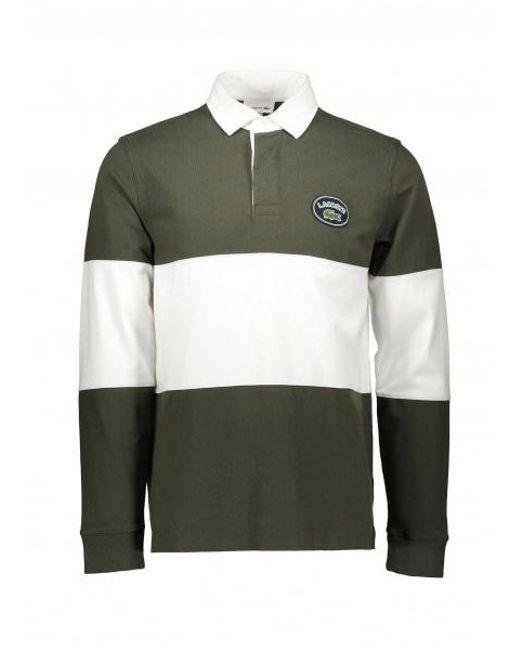 c901376af2 Lacoste - Green Rugby Shirt for Men - Lyst ...