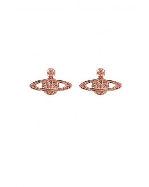 Vivienne Westwood - Pink Mini Bas Relief Earrings - Lyst
