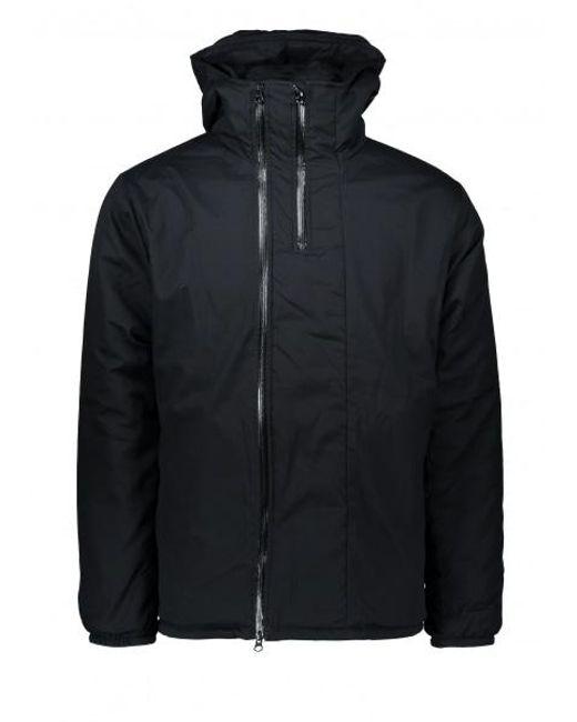 Monitaly - Black Full Zip Insulated Jacket Poplin for Men - Lyst