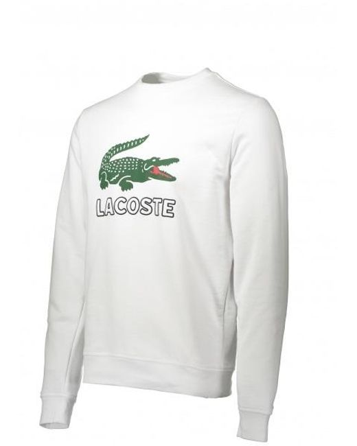 7e77944f ... Lacoste - White Large Logo Sweat for Men - Lyst ...