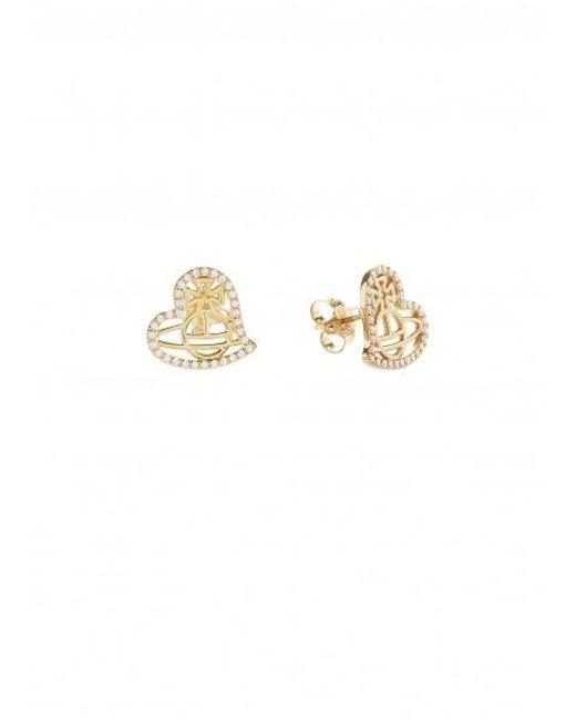 a33367fec ... Vivienne Westwood - Metallic Giuseppa Stud Earrings - Lyst