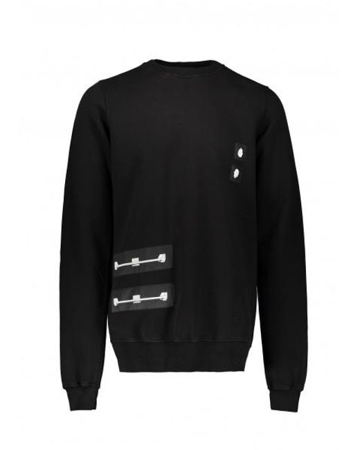 Rick Owens Drkshdw - Black Woven Sweatshirt for Men - Lyst