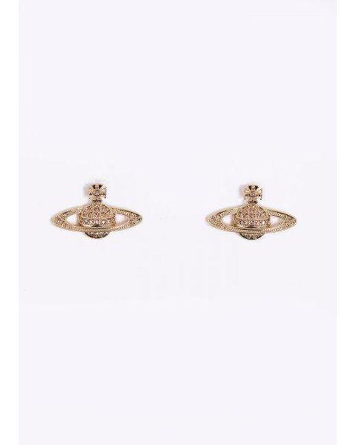 Vivienne Westwood | Metallic Mini Bas Pierced Earrings | Lyst
