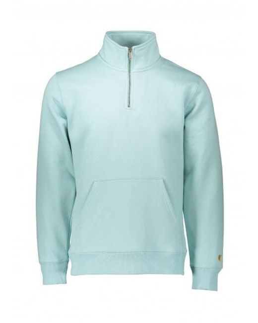 35b8c783 Carhartt - Blue Chase Neck Zip Sweat for Men - Lyst ...