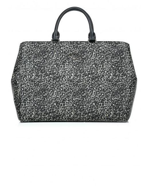 Vivienne Westwood - Gray Leopard Shopper Bag - Lyst