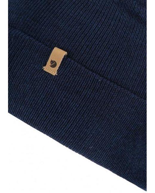 ... Fjallraven - Blue Classic Knit Hat for Men - Lyst 554c250d7f3b