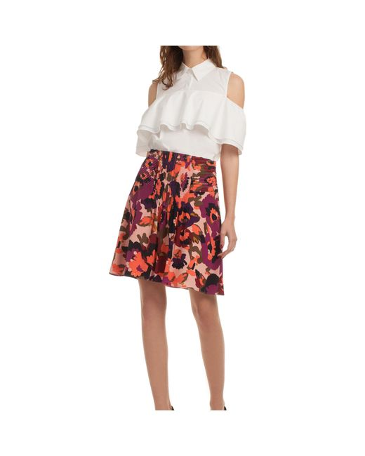Trina Turk   Red Diamond Skirt   Lyst