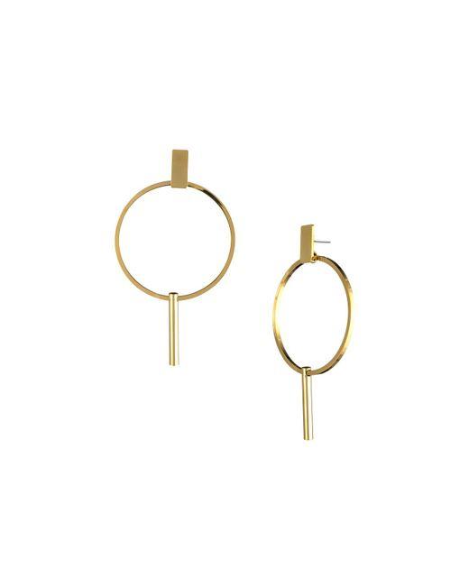 Trina Turk - Metallic Golden State Hoop Drop Earring - Lyst