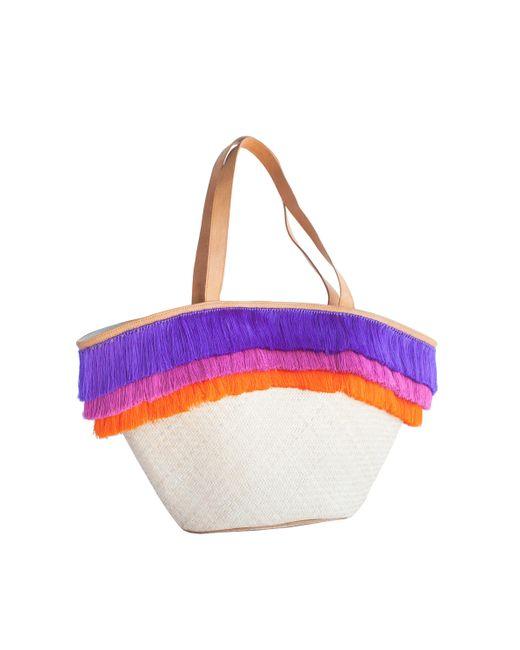 Trina Turk - Multicolor Fringe Straw Lg Tote - Lyst