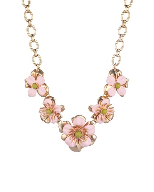 Trina Turk - Pink Super Bloom Flower Necklace - Lyst