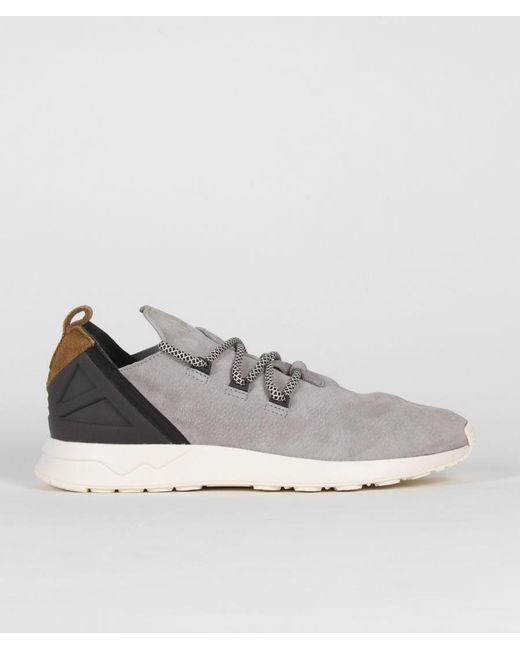 classic fit 55770 bdaa0 Men's Gray Size 11 Wolf Grey And Tan Leather Originals Zx Flux Adv X Shoes