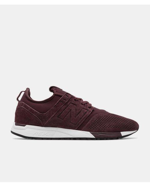 bdaf56b610090 New Balance - Purple Burgundy Suede Mrl247 Lr Shoes for Men - Lyst ...
