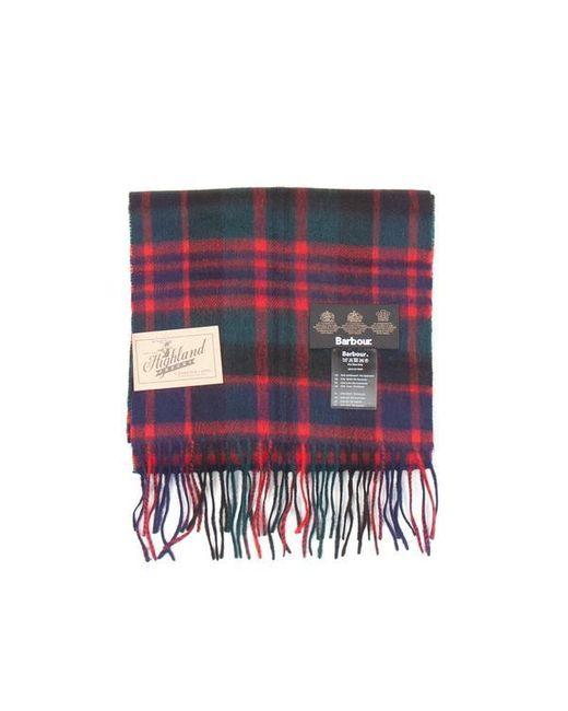 Barbour Red Tartan Knit Scarf