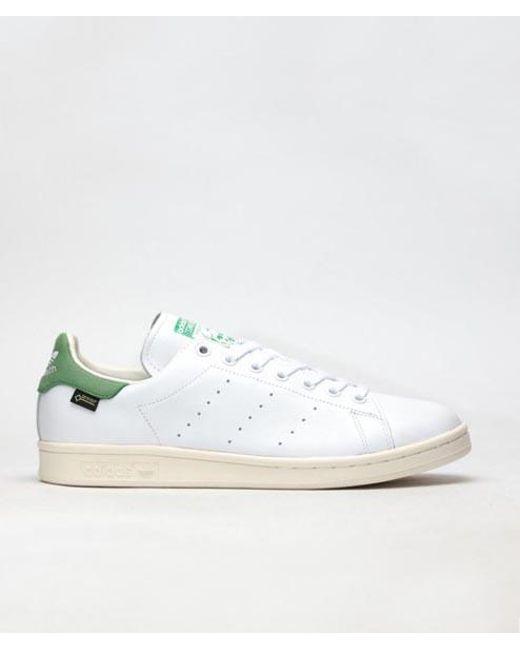 59ec59c4d Adidas - White Green Leather Originals Stan Smith Gtx Shoes for Men - Lyst  ...