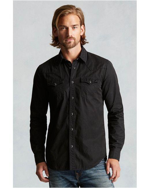True Religion | Black Western Mens Shirt for Men | Lyst