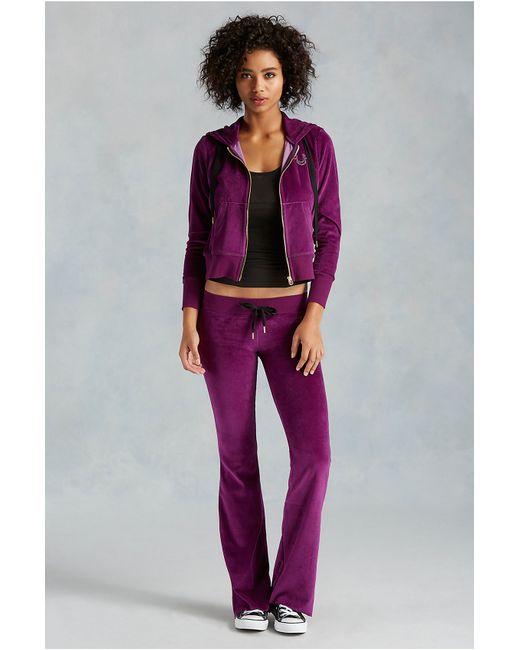 True Religion | Purple Velour Womens Sweatpant | Lyst