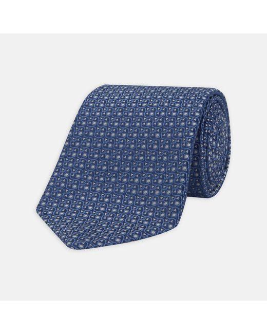 Turnbull & Asser   One For The Boys Blue Silk Tie for Men   Lyst