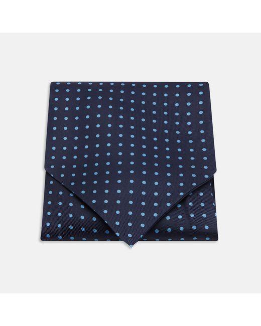 Turnbull & Asser - Navy And Blue Spot Silk Ascot Tie for Men - Lyst