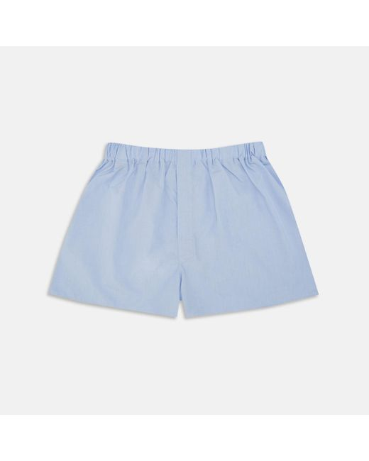 Turnbull & Asser - Plain Blue Sea Island Quality Cotton Boxer Shorts for Men - Lyst