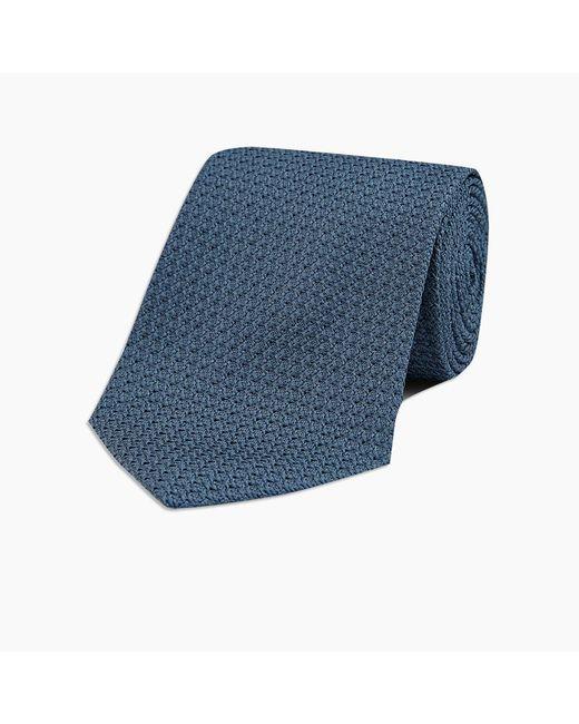 Turnbull & Asser Inky Blue Grenadine Silk Tie for men