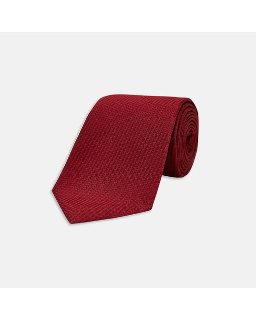 Turnbull & Asser - Red Burgundy Lace Silk Tie for Men - Lyst
