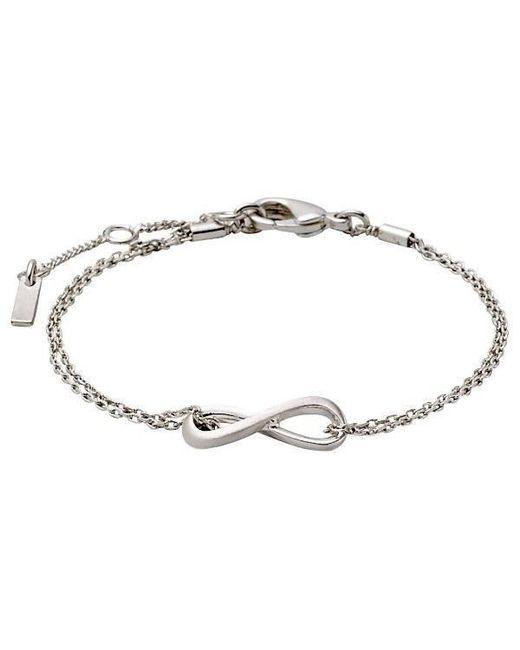 Pilgrim - Metallic Silver Plated Infinity Style Bracelet - Lyst