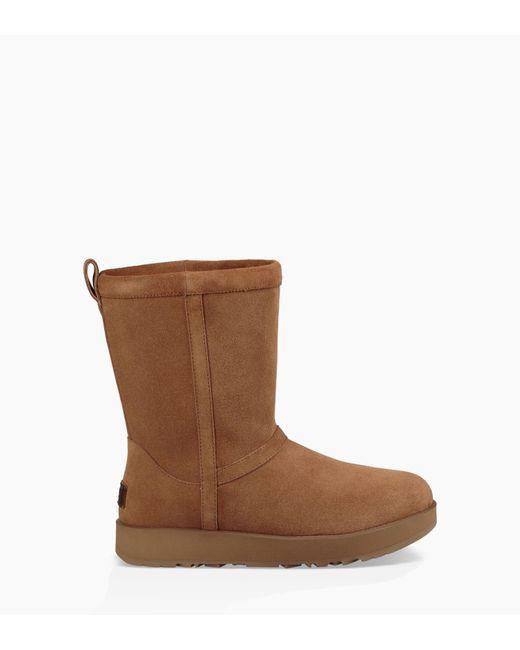 Ugg - Brown Women's Classic Short Waterproof Boot - Lyst