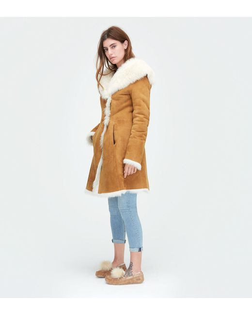 Ugg | Brown Women's Toscana Shearling Coat | Lyst