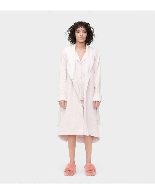 Ugg - Pink Women's Duffield Ii Dressing Gown - Lyst