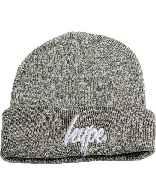 Hype Script Logo Beanie Hat in Gray - Lyst 274b9e397da