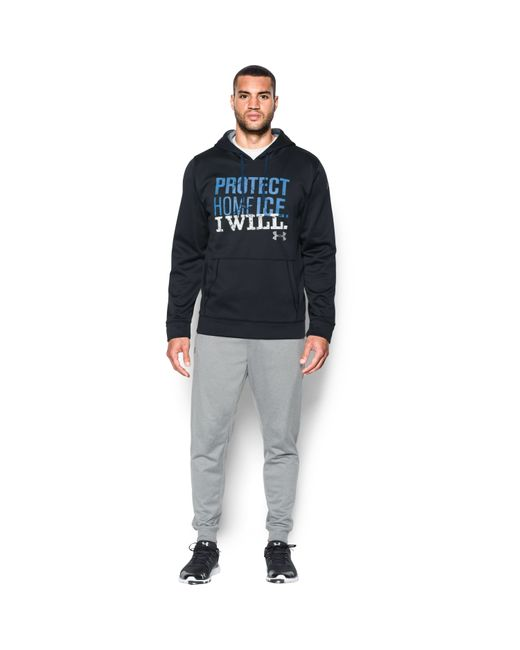 Under Armour   Black Men's Ua Protect Home Ice Hoodie for Men   Lyst