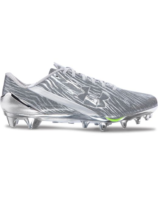 under armour men 39 s ua spotlight football cleats in metallic for men save 53 lyst. Black Bedroom Furniture Sets. Home Design Ideas