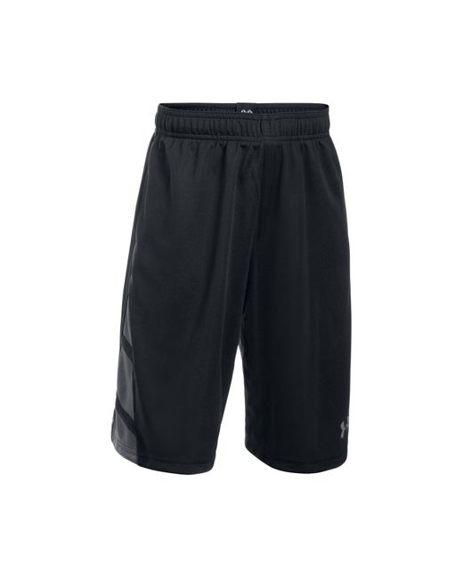 under armour triple double short in black for men