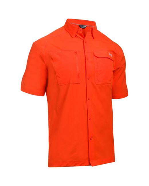 Under armour men 39 s ua fish hunter solid short sleeve in for Under armour men s ua fish hunter short sleeve shirt